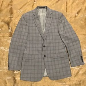 Calvin Klein X-Slim Fit Plaid Jacket